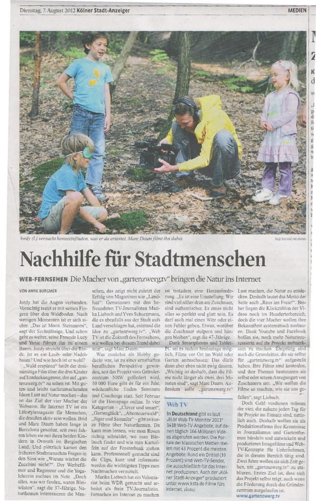 Presseartikel KSTA 2012